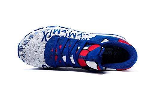 Onemix Air Zapatillas para Correr y Asfalto Deportivas Para Hombre de Malla Transpirable Para Correr Al aire Libre azul blanco