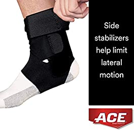 ACE – 229083 Deluxe Ankle Stabilizer, Support to sprained or strained ankle, Satisfaction Guarantee, One Size Fits Most