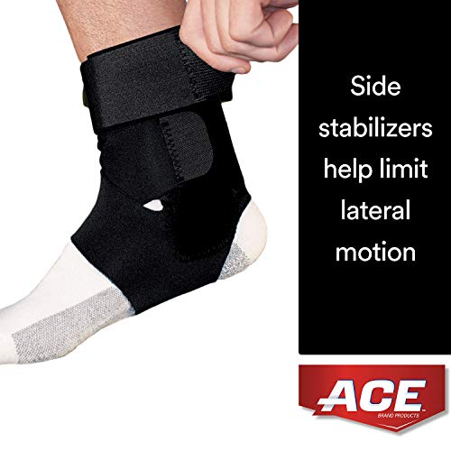- ACE Brand Deluxe Ankle Stabilizer, America's Most Trusted Brand of Braces and Supports, Money Back Satisfaction Guarantee