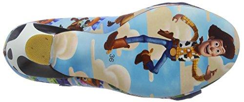 Irregular Choice Sheriff Woody, Scarpe col Tacco Punta Chiusa Donna Blu (Blue Multi A)