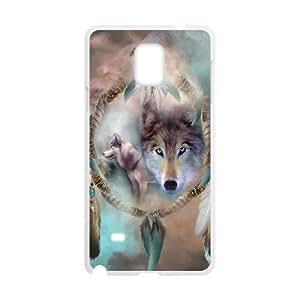 JFLIFE Wolf Dream Catcher Phone Case for samsung galaxy note4 White Shell Phone [Pattern-1] WANGJING JINDA