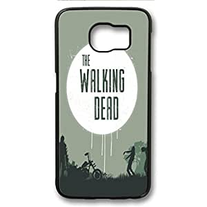 S6 Case,Anti slip properties give more grip for Galaxy S6 back cover,Galaxy S6 fashion PC black cover,the walking dead