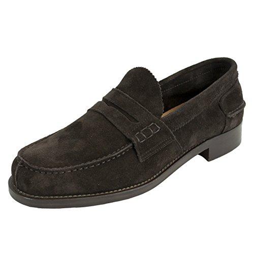 Saxone Of Scotland - Mocasines de Piel para Hombre marrón marrón Oscuro: Amazon.es: Zapatos y complementos