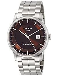 Tissot Luxury Automatic Brown Dial Mens Watch T086.407.11.291.00