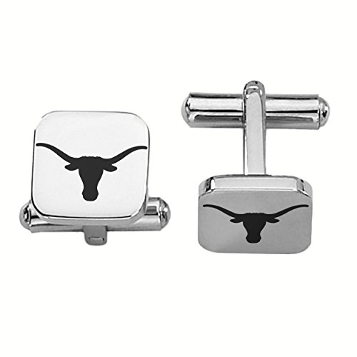 University of Texas Longhorns Stainless Steel Square Cufflinks