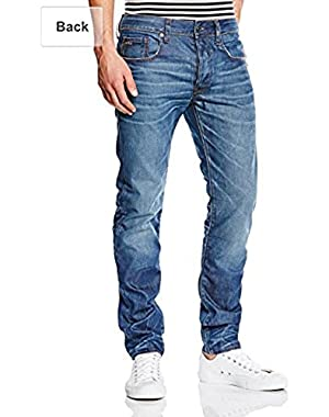 Men's A Crotch Tapered Leg Jean in Lexicon Denim, Medium Aged
