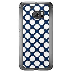 Loud Universe HTC M10 04 Transparent Edge Case - Navy Blue/White