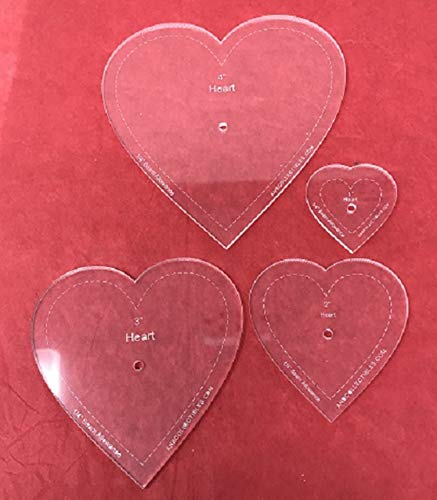 4pc. Set of Heart Quilting Templates 1