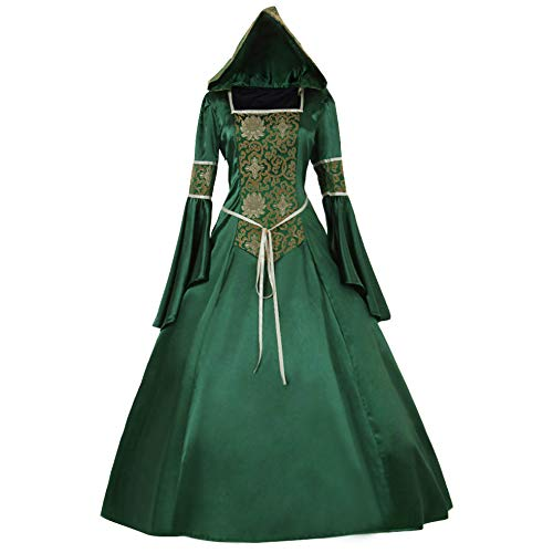 1791's lady Women's Victorian Rococo Dress Inspiration Maiden Costume NQ0032 (M:Height65-67 Chest36-37 Waist28-29, Green)]()