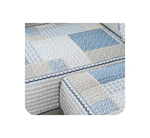 Sofa Covers for Living Room Plaid Sofa Towel Couch Cover Cotton Non Slip Sofa Slipcover Modern Minimalist Corner Seat Cover,C,70x90cm ()