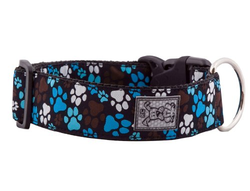 RC Pet Products 1-1/2-Inch Wide Dog Clip Collar, Large, Pitter Patter Chocolate