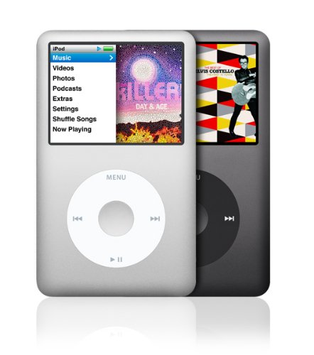apple ipod classic 160 gb black 7th generation in plain. Black Bedroom Furniture Sets. Home Design Ideas
