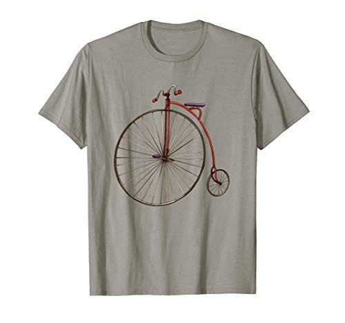Vintage Bicycle Shirt Retro Antique Art Print History ()