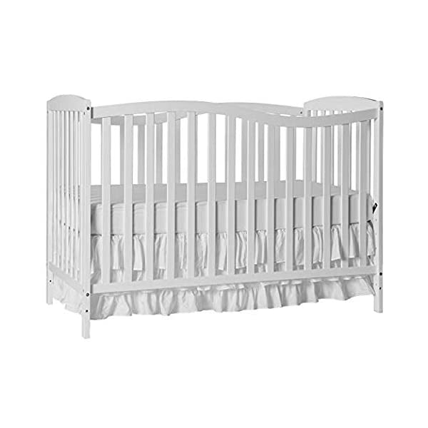 Dream On Me Chelsea 5-in-1 Convertible Crib, White with Full Size Firm Foam Crib and Toddler Bed Mattress, Little Baby, 6″