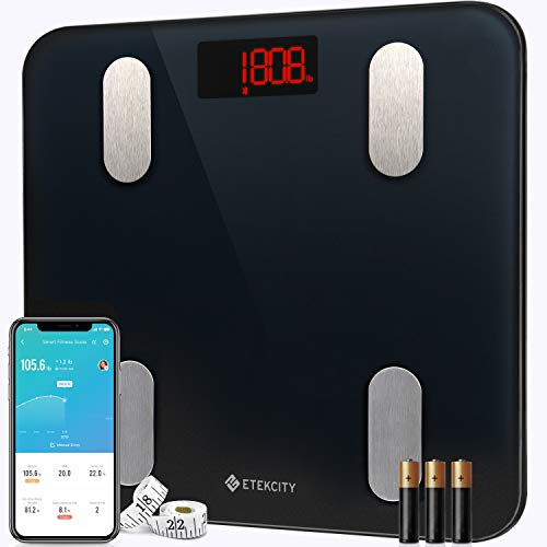 Etekcity Scales for Body Weight Bathroom Digital Weight Scale for Body Fat, Smart Bluetooth Scale for BMI, and Weight…