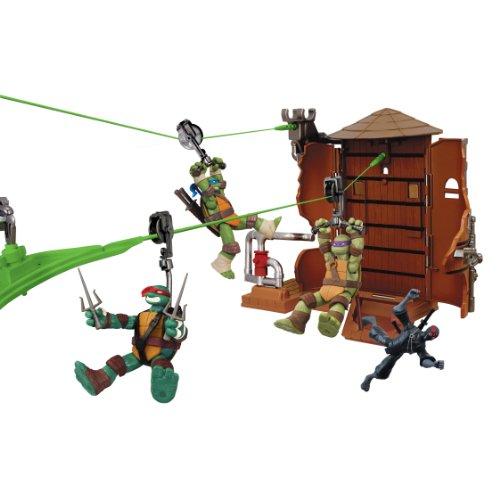 Teenage Mutant Ninja Turtles Z-Line Water Tower Washout Playset (Tmnt Zip Line)