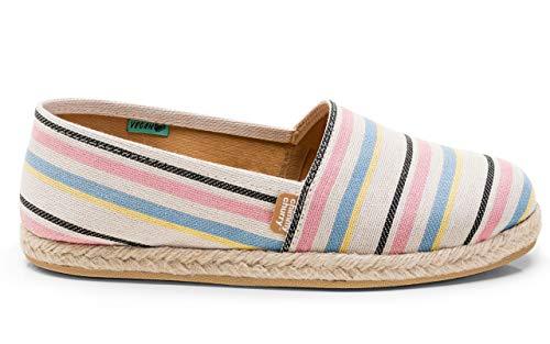 CHIMMY CHURRY, Alpargatas Pink Striped, Size 8