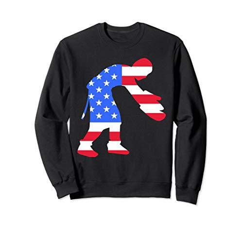 Funny Baker American Flag Crewneck sweatshirt USA Patriot