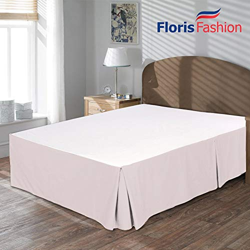 Floris Fashion King Premium Egyptian Cotton Pink Solid Box Pleated Styling Classic Tailored Bedskirt Solid with Split Corners 13