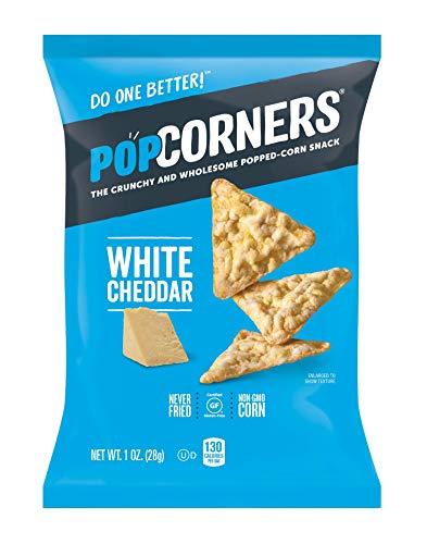 PopCorners Snacks Variety Pack | Gluten Free Chips Snack Packs | Kettle Corn, White Cheddar, Sea Salt | (18 Pack, 1 oz Snack Bags)