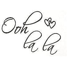 OOH LA LA Paris France Hearts Love Quote Vinyl Wall Decal Decor Art Sticker