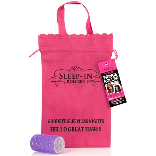 Sleep-In Rollers Fringe Roller with Drawstring Bag