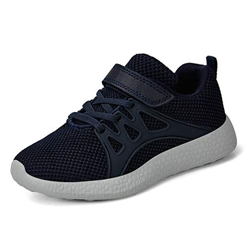 domirica Toddler Kid's Sneakers Boys Girls Cute Casual Running Shoes Navy Blue-1 11.5 M US Little Kid
