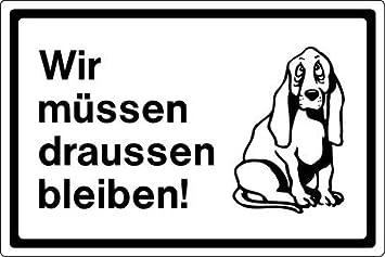 Istick Aufkleber Hund Wir Müssen Draußen Bleiben Sticker