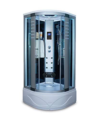 Bath Master 8004-AS Home Luxury Bathtub Spa Sauna, Corner Steam Shower Room With LCD Display, LED...