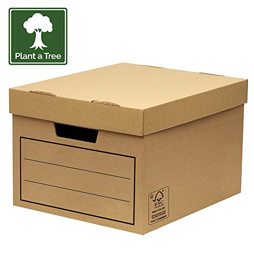 Large Multi Use Box - Bankers Box Multi-Use/General Storage/Archive Box with Lid (Pack of 10)
