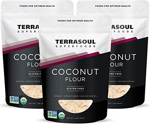 Terrasoul Superfoods Organic Coconut Flour, 6 Lbs (3 Pack) - Gluten-Free | Unrefined | Fine Texture | Premium Quality