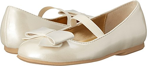 Youth White Satin (Nina Kids Baby Girl's Pegasus-T (Toddler/Little Kid) Ivory Patent/Satin Shoe)