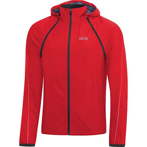 (GORE Wear R3 Men's Zip-Off Hooded Jacket GORE WINDSTOPPER, S, Rot)