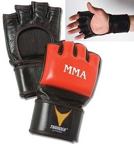 Pro Force Thunder Mixed Martial Arts Leather Fight Glove