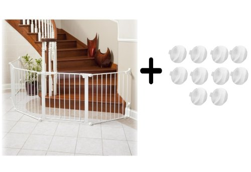 Kidco Auto Close Configure Gate and Outlet Plug Covers, White Review