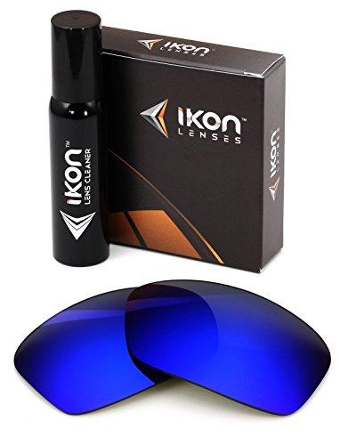 Polarized Ikon Iridium Replacement Lenses for Dragon Vantage Sunglasses - Deep Blue Mirror