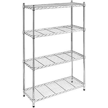 amazon com whitmor supreme 4 tier shelving with adjustable shelves rh amazon com 4 tier shelf iron 4 tier shelving plastic bins