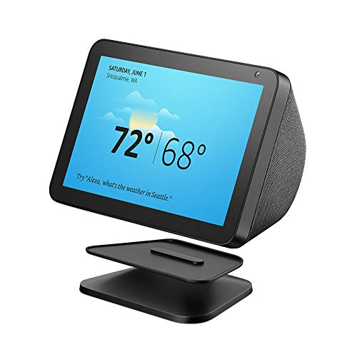 Echo Show 8 (Charcoal) with Echo Show 8 Adjustable Stand (Black)