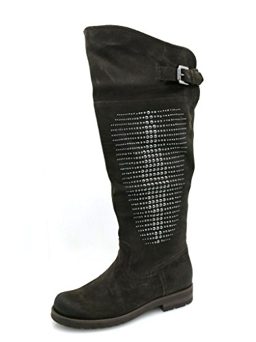 Boots Leather Suede leather Marc boots Smoke boots Shoes Women's black 8IttqZf