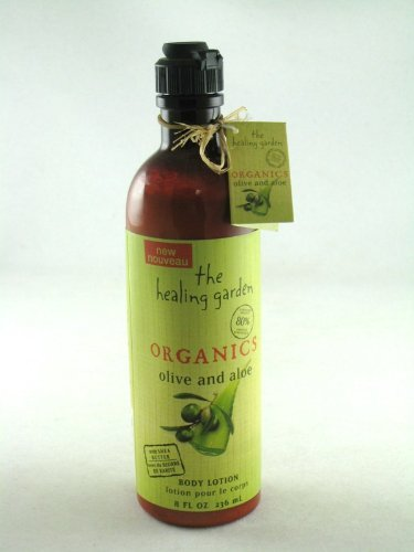 The Healing Garden Organics Body Lotion Olive and Aloe 8 oz. (Organics Garden Healing)