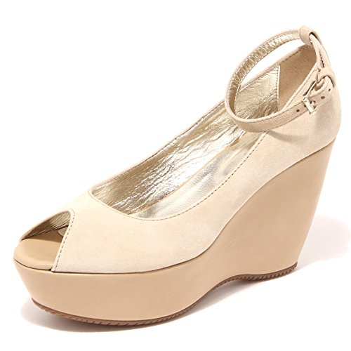 42688 spuntato Beige scarpa shoes women HOGAN zeppa decollete donna frSqBfw