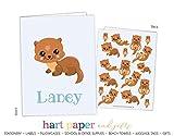 Otter Sea River 2 Pocket Folder Gift Name Back to School Supplies Teacher Office Birthday Girl Kids Custom Personalized Custom