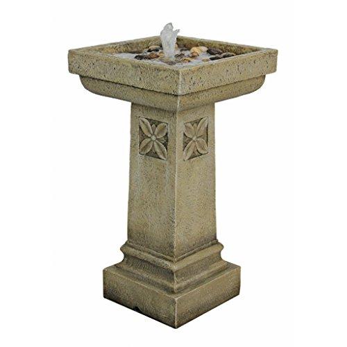 Design Toscano White Chapel Manor Pedestal Garden Fountain by Design Toscano