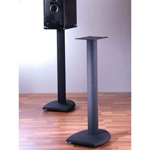 VTI Manufacturing DF36 36 in. H44; Iron Center Channel Speaker Stand - Black by VTI Manufacturing