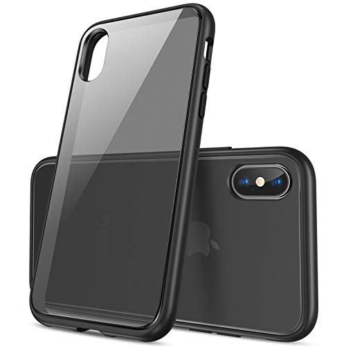 CASEKOO iPhone Xs Case, iPhone X Case Hard Heavy Duty Protective Case Rugged Matte Shock Absorption Bumper Anti-Scratch Frost Black Cover Case for iPhone Xs/X 5.8 Inch (2018 Release)-Space Gray