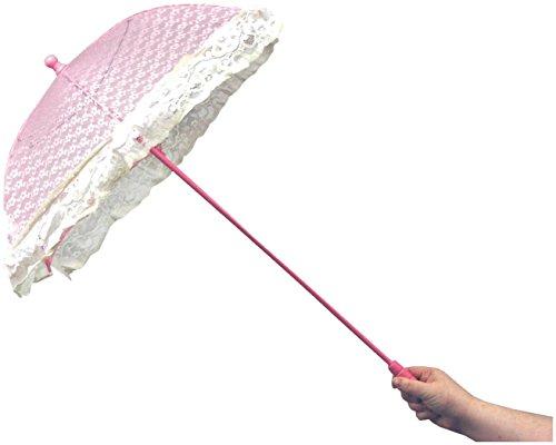 WMU - Pink Lace Ruffle Parasol - Standard (Wmu Lace)