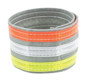 Nathan Tri-Color Ankle Band (Single) (Yellow/Grey/Orange)