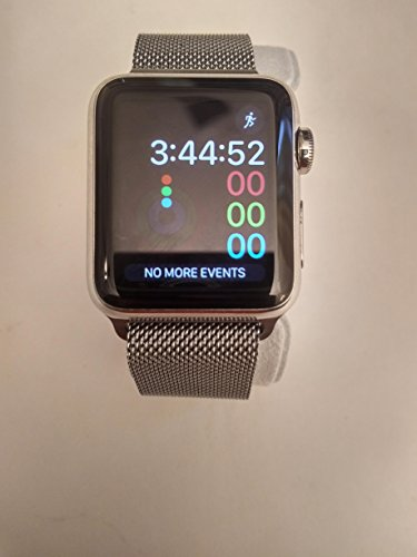 Apple Watch  38Mm  Stainless Steel Case With Black Classic Buckle