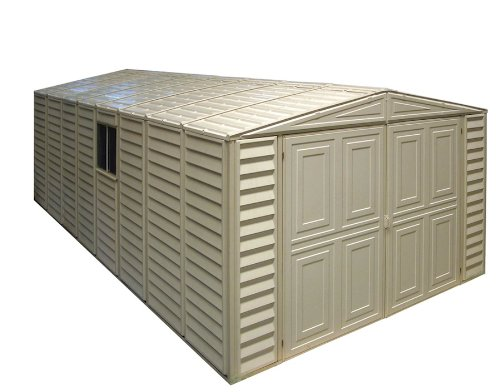 Duramax 01214 Vinyl Garage Shed with Foundation and Window, 10 by 21-Inch (Shed Vinyl Duramax Usa)