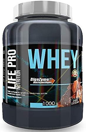 Life Pro Whey 1Kg | Suplemento Deportivo, 78% Proteína de Concentrado de Suero, Protege Tejidos, Anticatabolismo, Crecimiento Muscular y Facilita ...